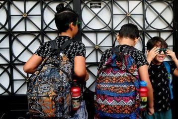 Estudiantes inmigrantes en un instituto de España